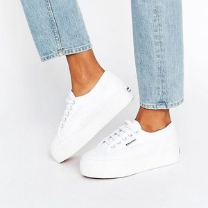 Platform superga sneakers